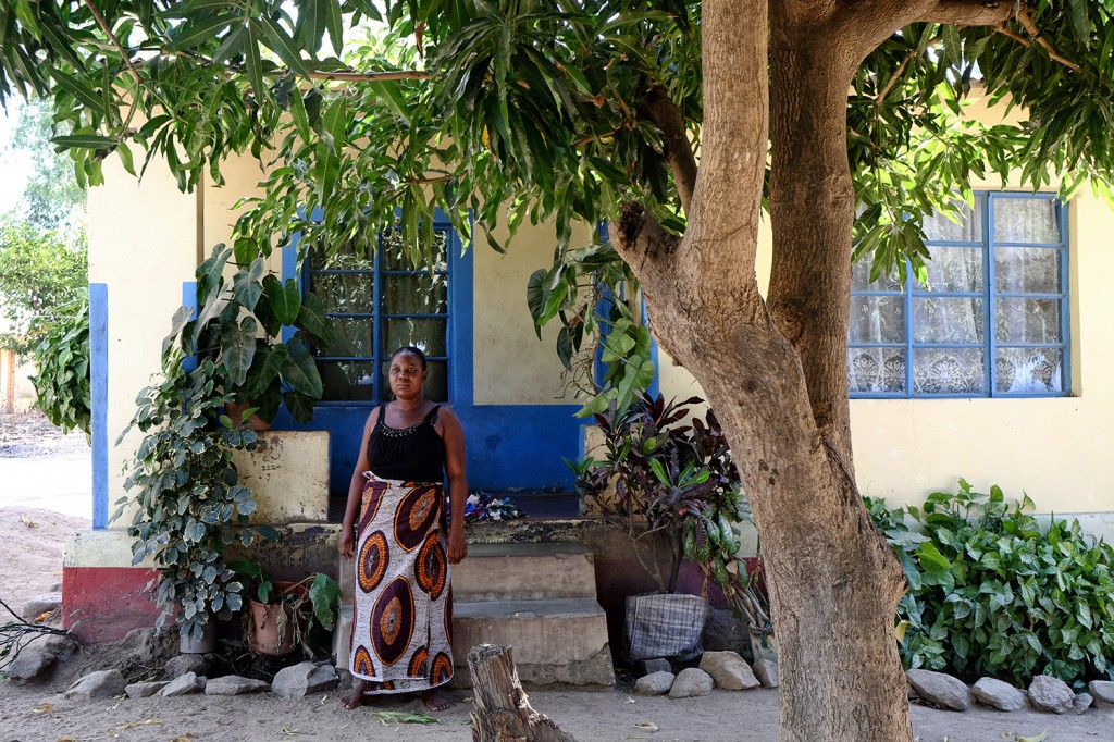 Beatrice lives in a three bedroom house surrounded by a lush vegetation on the island of Likoma.
