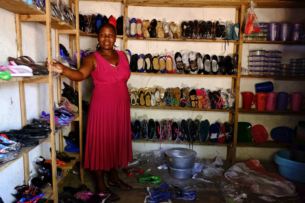 Beatrice owns a small shop of shoes and kitchenware at Likoma's market since 2012.