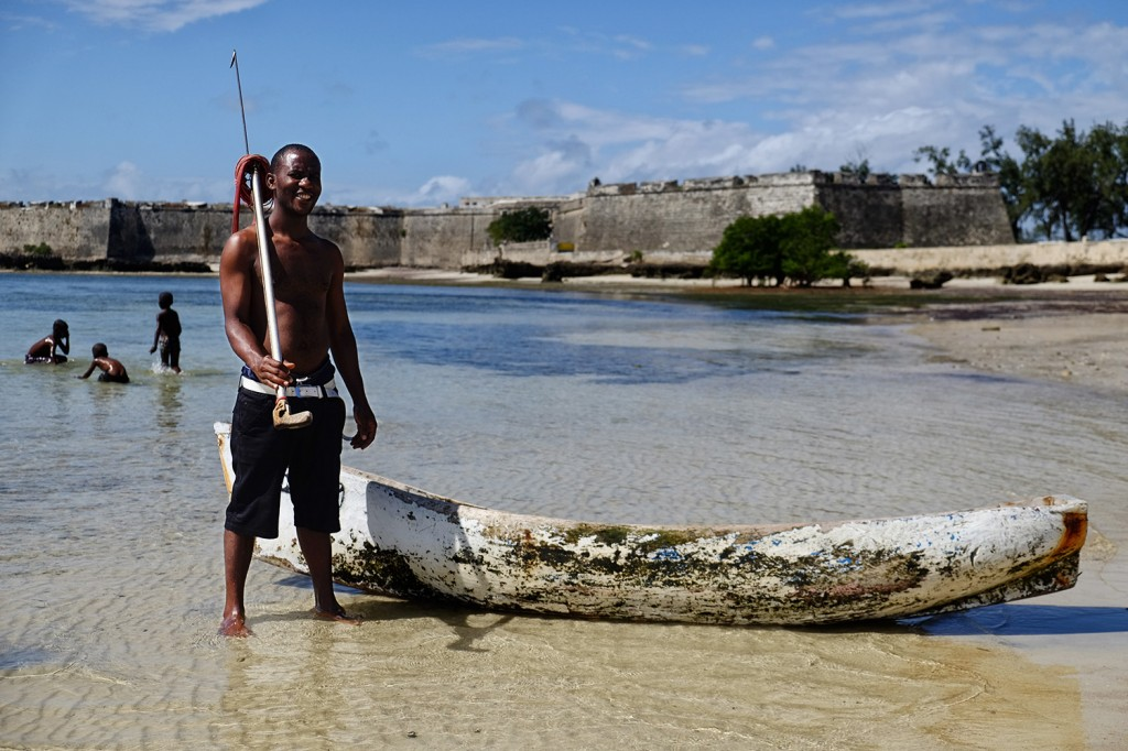 Like many other men on the island, Faruk, works as a fisherman. Fishing being the first income on Mozambique Island.