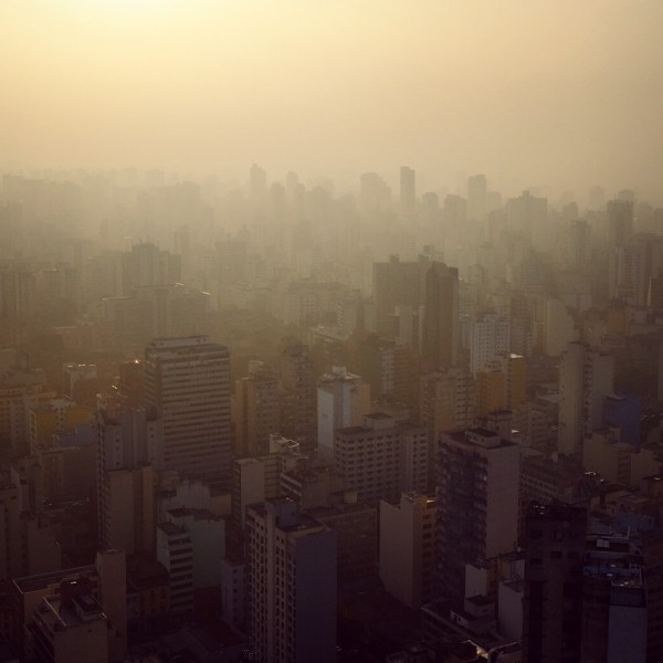 Day 63– Brazil – Sao Paulo – Brazil - Sao Paulo - The huge city (more than 20 millions inhabitants) seen from the rooftop of Terraça Italia at sunset
