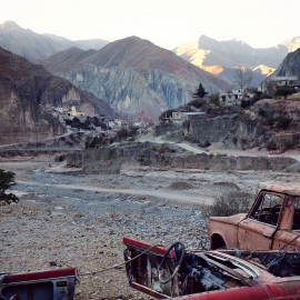 Day 71 – Argentina – Iruya – The end of the world village of Iruya (the road ends there, sometimes inaccessible during the rainy season due to river level) stuck in the valley between 2 mountains.