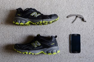 Kevin chose 3 objects. 1) His cellphone symbolizing his passion for technology. 2) His running shoes symbolizing his taste for outdoor sports. 3) A multi function knife.
