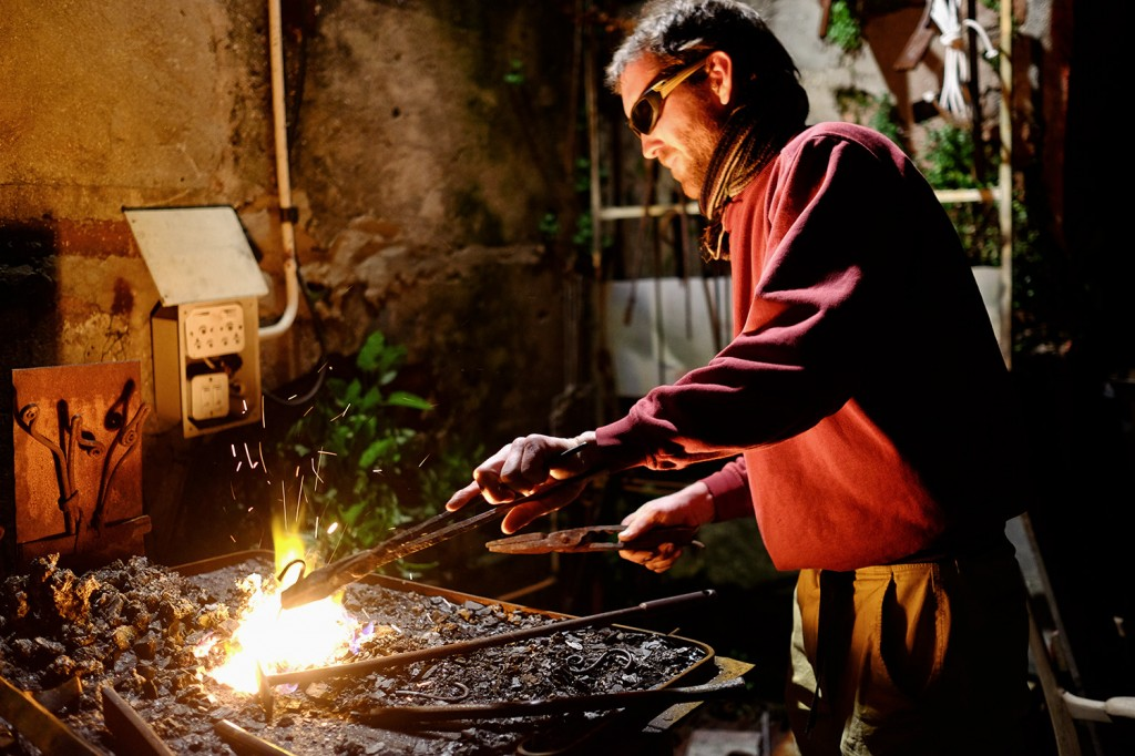 Warren has two jobs, plumber and he also is an entrepreneur as a blacksmith.
