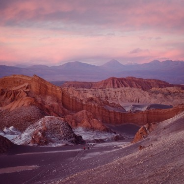 Day 79 - Chile - San Pedro de Atacama - Sunset in Valle de la Luna seen from the famous Amphitheater rocks