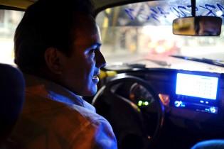 """Alvaro driving his Volkswagen Beetle: """"La Peta"""""""