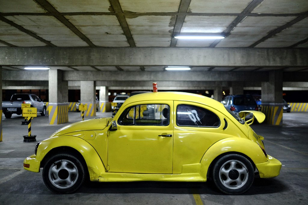 Alvaro choosed 2 objects: his Volkswagen Beetle that he recently purchased because he loves cars… And A can of beer, his favorite drink!