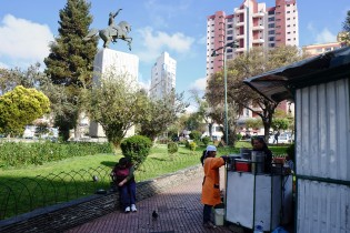 Alvaro's favorite spot is this square where small street shops sell Ceviche every morning.