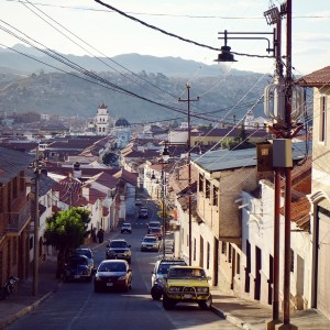 Day 85 – Bolivia – Sucre – Streets of Sucre, a nice small city, part of the Unesco world heritage