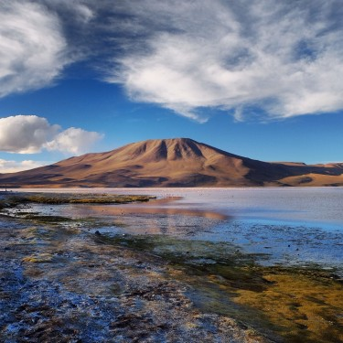 Day 80 – Bolivia – Laguna Colorada – After a full day drive through the amazing landscapes of South Lipez, we reach one of the most famous Lagunas of the Salar de Uyuni tour : Laguna Colorada