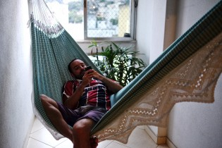 Leandro resting in his hamac.