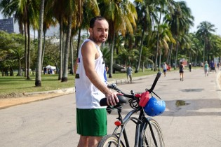 Leandro bikes to work and to beach volley everyday.