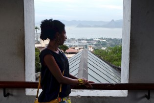 Cristiane enjoying the view from her favorite spot.