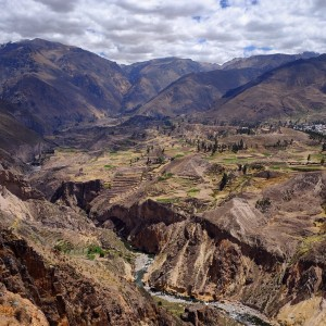 Day 102 – Peru – Colca Canyon – Amazing view of this beautiful Canyon eroded over millions years.