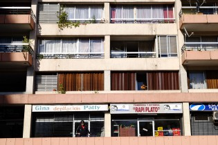 Alvaro lives on the 22nd floor of this apartment with his partner and future new born in North Santiago.