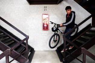 Alvaro has a 30-minutre bicycle ride to get to work everyday.