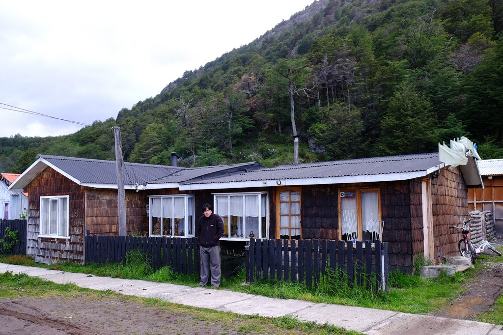 Cristian lives in this small house in Villa O Higgins. A 600 people town located at the end of the Carretera Austral in Chilean Patagonia.
