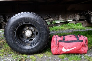Cristian chosed 2 objects : 1) His truck, one of the greatest achievments of his life 2) His bag which he carries all the time during his trips as a driver