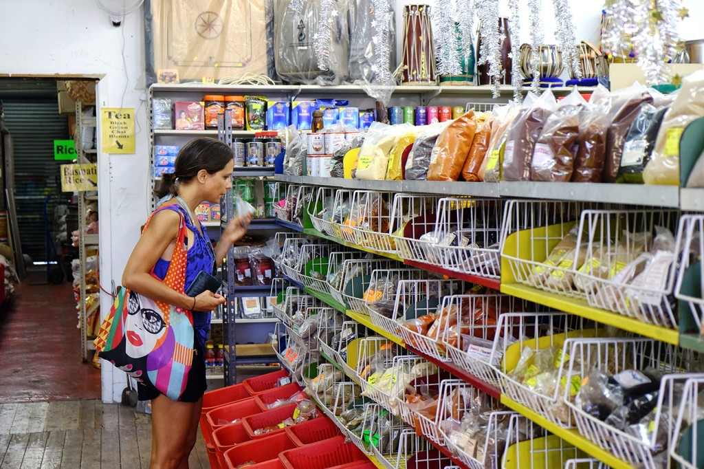 Diana shopping at one of her favorite tea & herbs shop.