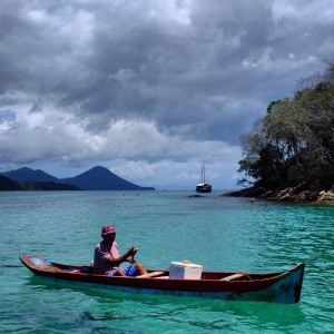 Day 112 – Brazil – Ilha Grande – Take a boat trip around the island and you will sail on these crystal clear turquoise waters.