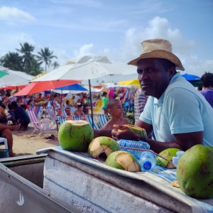 Day 119 – Brazil – Recife – Refresh yourself at the beach with some coconut water.