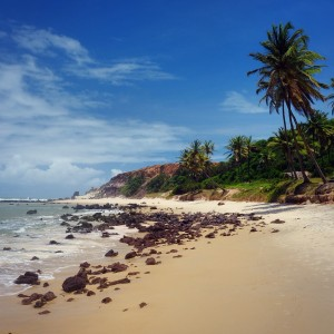 "Day 122 – Brazil – Pipa – Relax at the ""Praia do Amor"" or beach of love, famous for its heart shape."