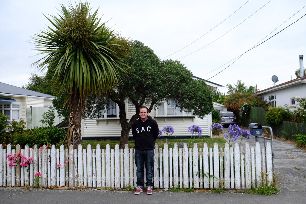 Tristan lives in this small house a few minutes outside the center of Christchurch.