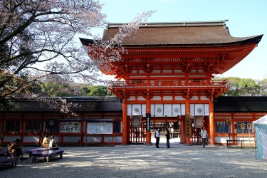 Satoshi's favorite spot in Kyoto is the Shinano shrine.