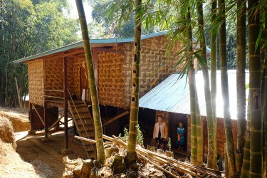 "Win lives in this very nice bamboo house in her village called ""Myin Dike"", about 15km from Kalaw."