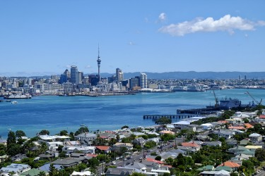 Anousith's favorite spot is this beautiful view over Auckand.