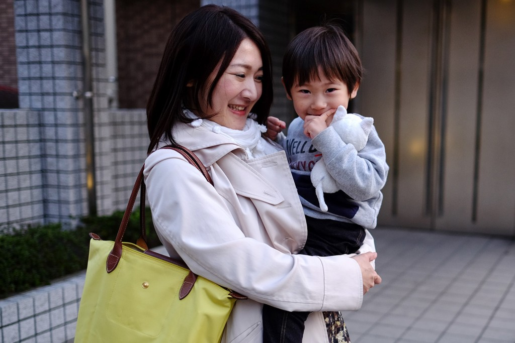 Ami with her 2 year old son.